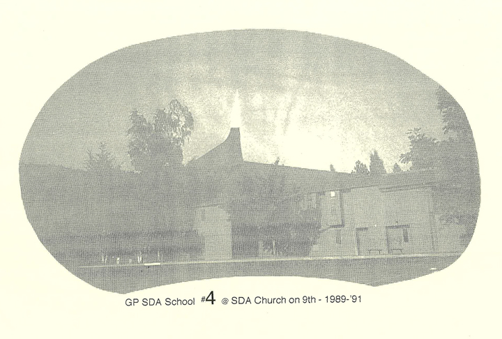 A photo of Grants Pass Seventh-Day Adventist School from 1989-1916