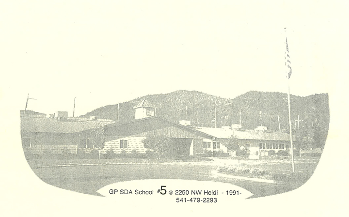 A photo of Grants Pass Seventh-Day Adventist school in 1916